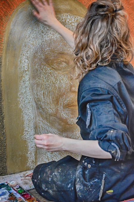 Frédérique Lemarchand Peinture en direct